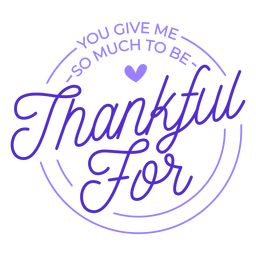 Thankful for lettering sentiments