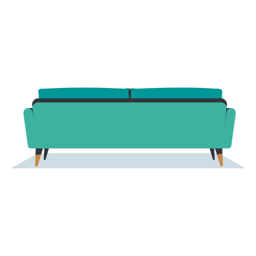 Three seater sofa back view flat