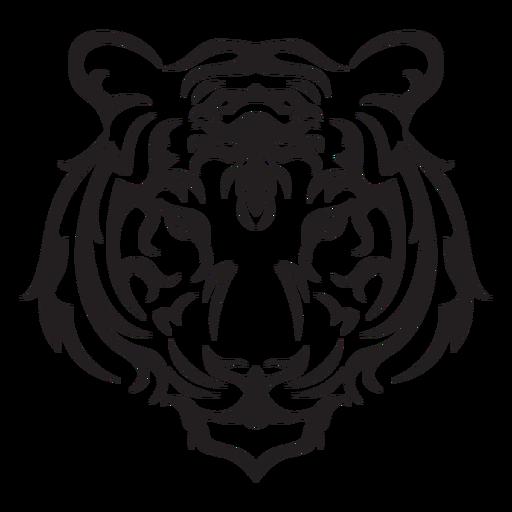 Traço de cabeça de tigresa