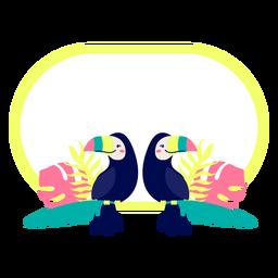 Título marco diseño de aves tropicales