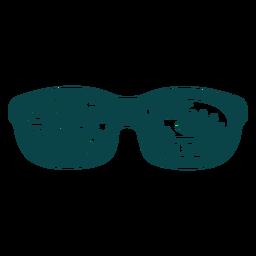 Diseño plano de gafas de sol tucán