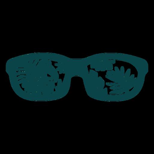Dise?o plano de gafas de sol tuc?n