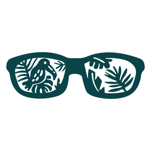 Toucan sunglasses flat design Transparent PNG