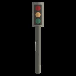 Diseño plano de semáforo