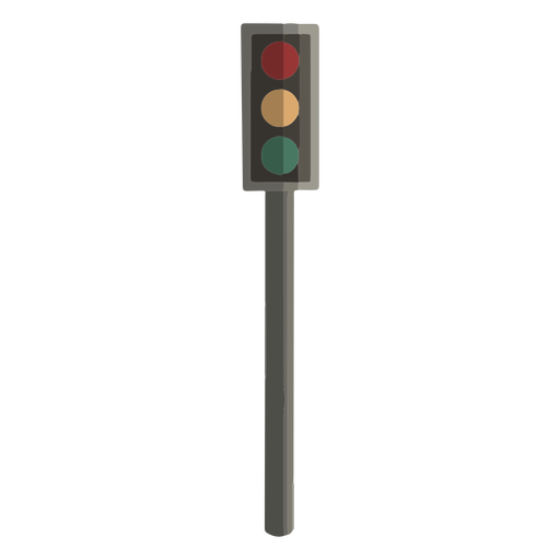 Traffic light flat design