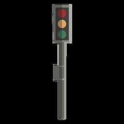 Diseño plano de la vista frontal del semáforo