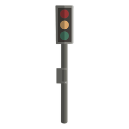 Traffic light front view flat design