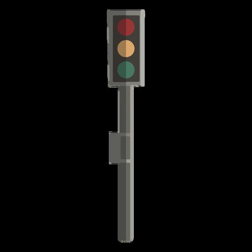 Traffic light front view flat design