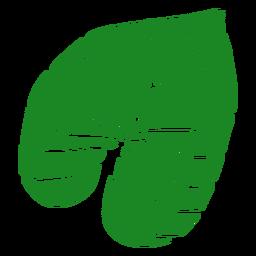 Mão de palmeira de folha tropical desenhada