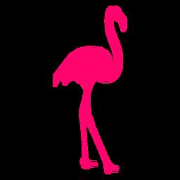 Tropical flamingo silhouette
