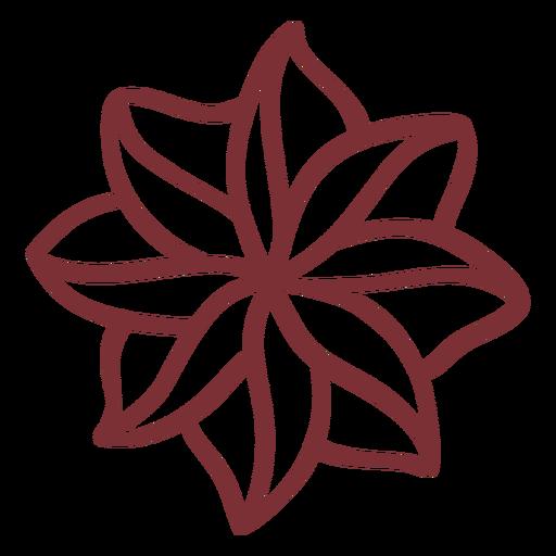 Trazo de planta de flor tropical