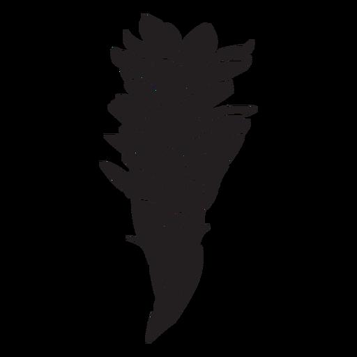 Tropical leafy flower silhouette