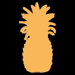 Silhueta de abacaxi tropical