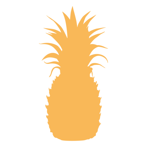Tropical pineapple silhouette Transparent PNG