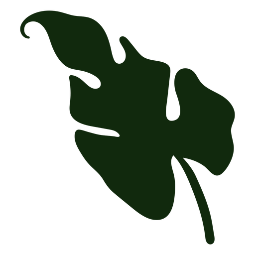 Dibujado a mano hoja de planta tropical