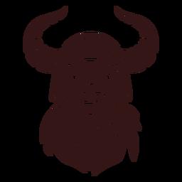 Cabeza y casco vikingos