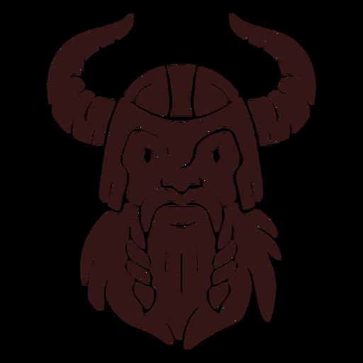 Viking head and helmet