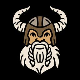 Dibujado a mano cabeza y casco vikingos
