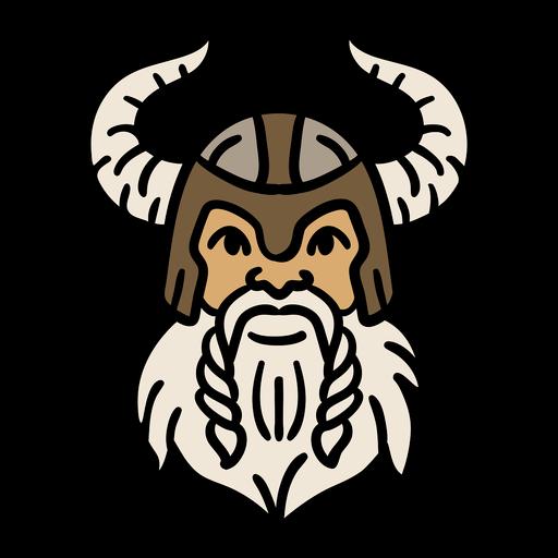 Dibujado a mano cabeza y casco vikingo