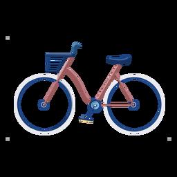 Design plano de bicicleta vintage