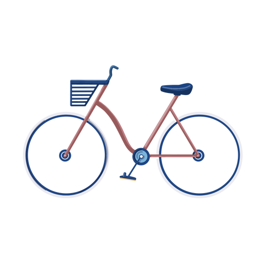 Diseño plano de bicicleta vintage