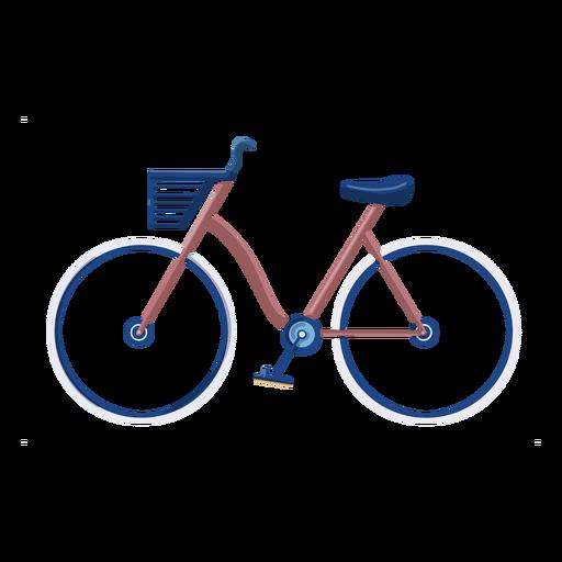 Vintage bike flat design