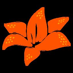 Diseño de flor de lirio de agua dibujado a mano