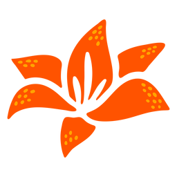 Diseño dibujado a mano de flor de lirio de agua