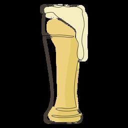 Weizen cerveza vaso trazo