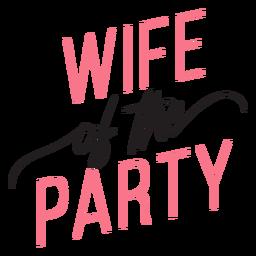 Citação de esposa da festa