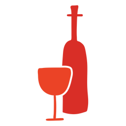 Garrafa de vinho e vidro cortado