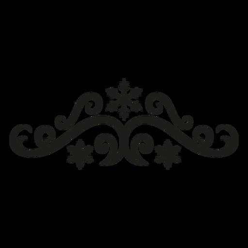 Winter flourish lace design