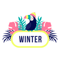 Quadro de selva de título de inverno