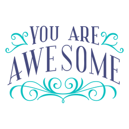 You are awesome lettering design