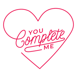 Você me completa letras de coração