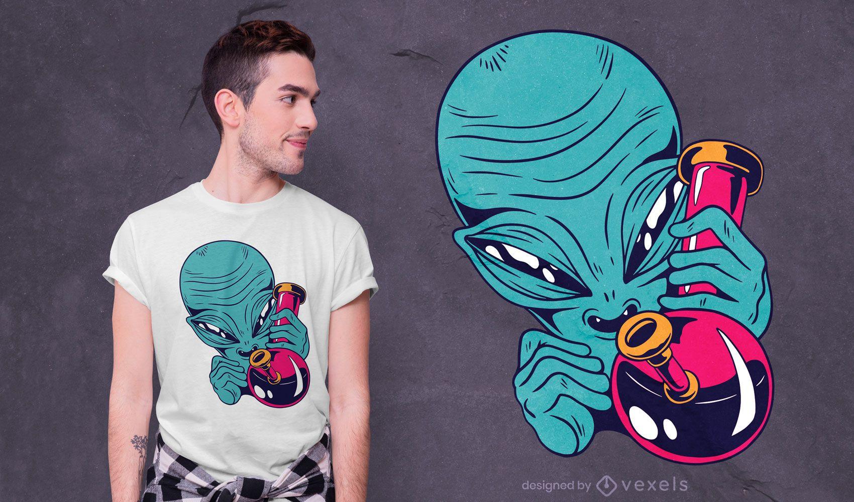 High alien t-shirt design