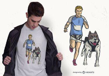 Diseño de camiseta Canicross