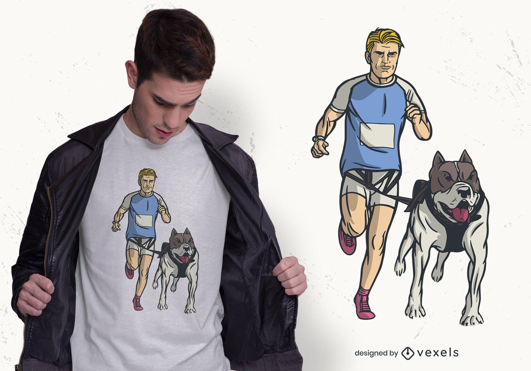 Design de t-shirt Canicross