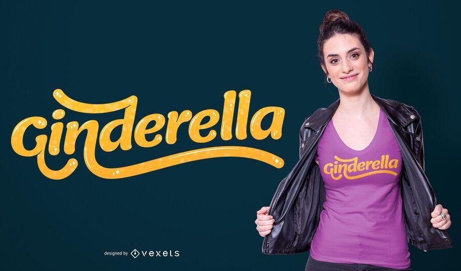 Design de camiseta Ginderella