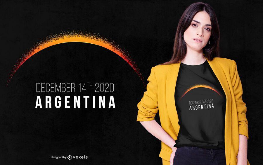 Design de camiseta Argentina Eclipse