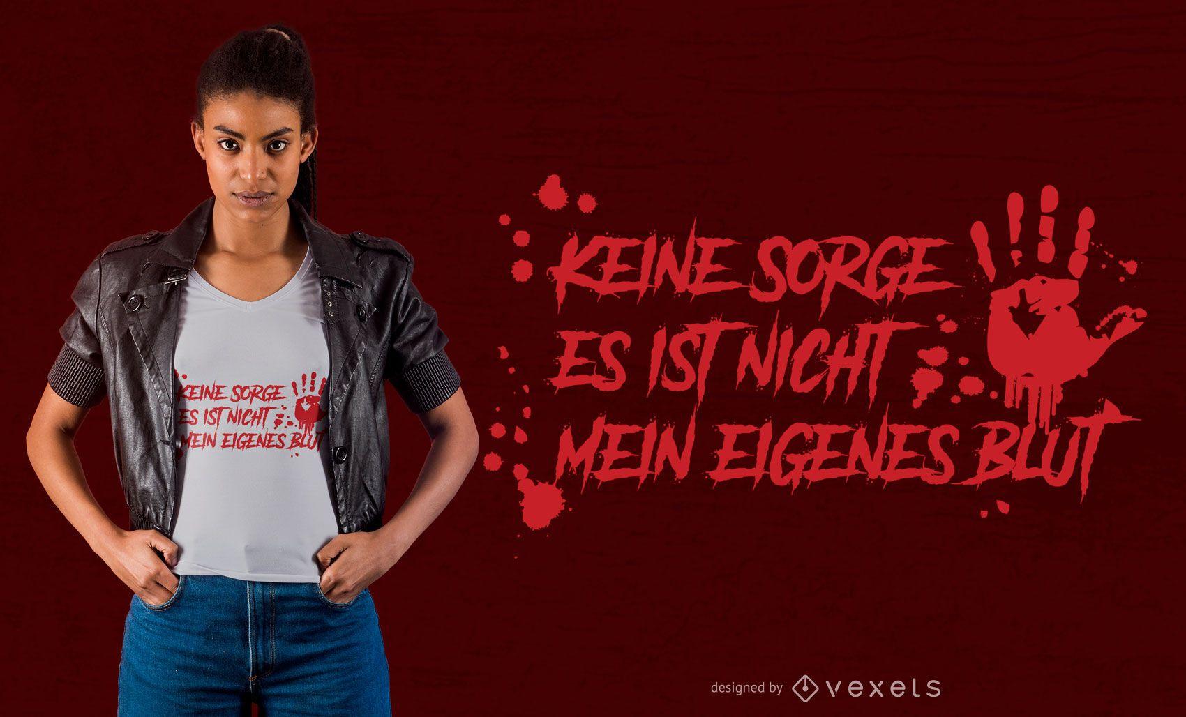 Design de camiseta alemã Blood
