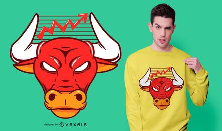 Design de t-shirt de gráfico de touro