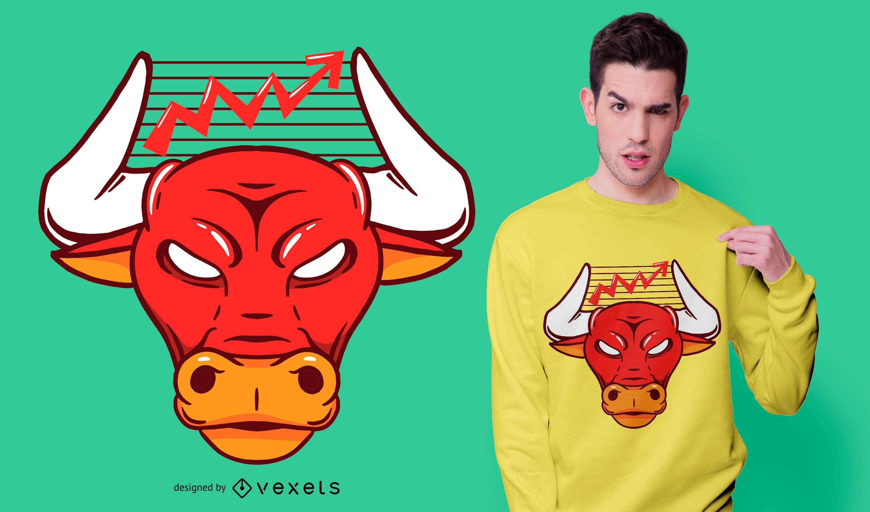 Bull chart t-shirt design
