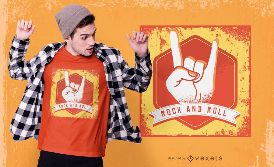 Camiseta vintage rock and roll