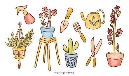 Pacote de Design do Balcony Garden Elements