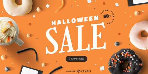 Design de controle deslizante de venda de Halloween