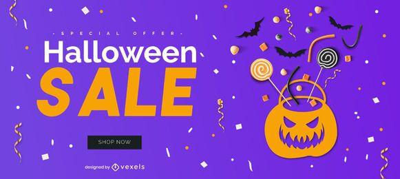 Design de controle deslizante de halloween de venda