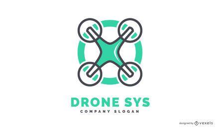 Drohnen-Logo-Vorlage