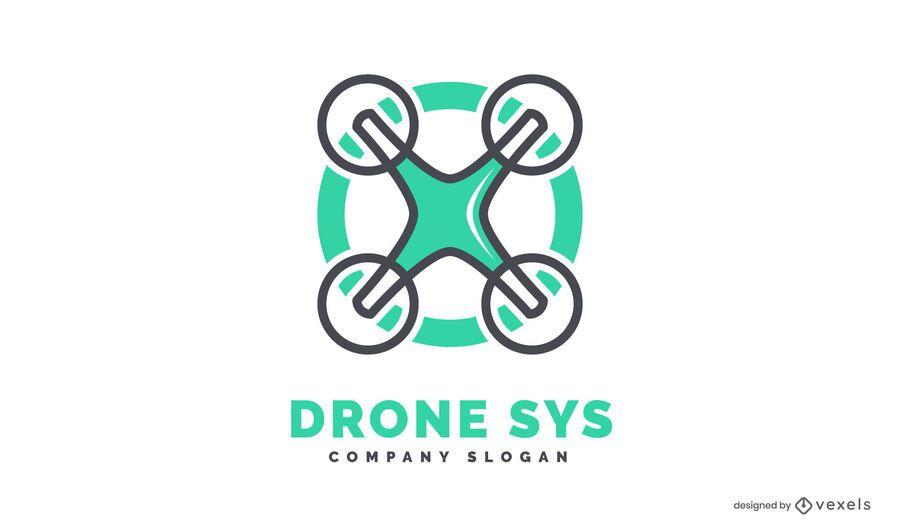 Plantilla de logotipo de dron