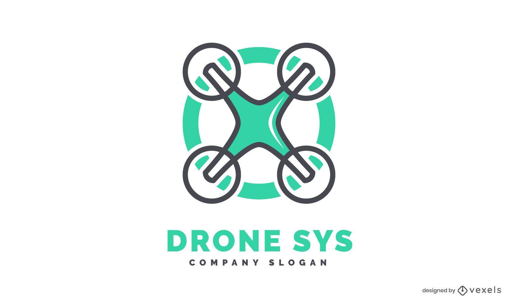 Plantilla de logotipo de drone
